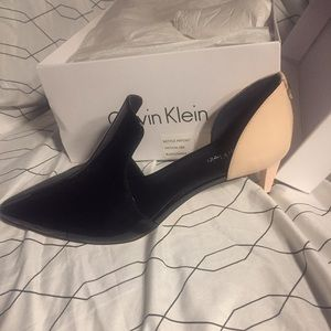 Calvin Klein Heels two toned brand new